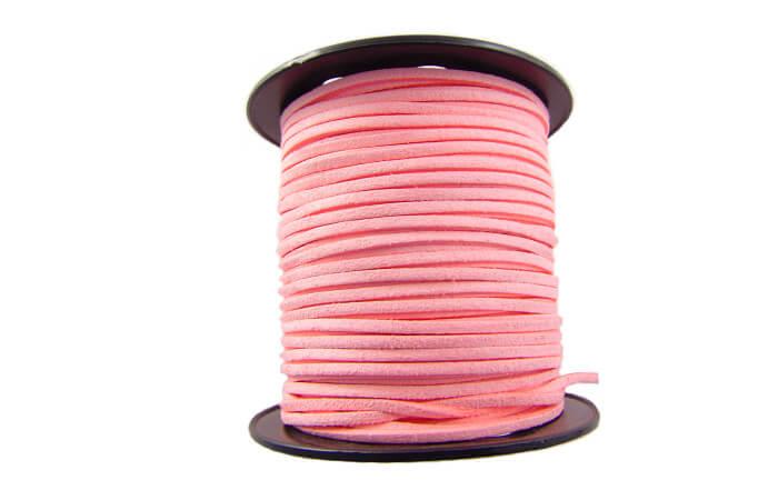 Rzemień ekologiczny w kolorze różowym