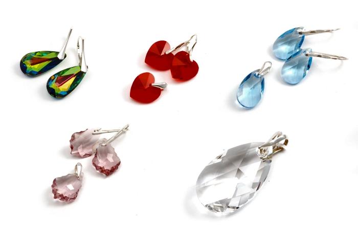 Elementy biżuterii Swarovski