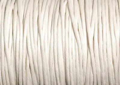 Sznurek bawełniany woskowany biały