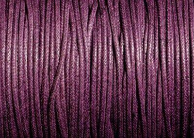 Sznurek bawełniany woskowany ciemny fiolet