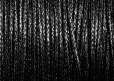 Sznurek bawełniany woskowany czarny