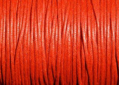 Sznurek bawełniany woskowany czerwony