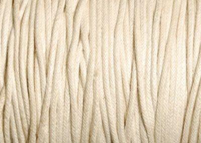 Sznurek bawełniany woskowany ecru