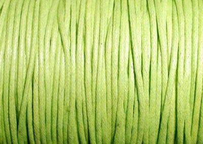Sznurek bawełniany woskowany jasna zieleń