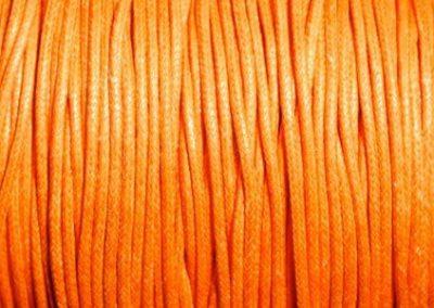 Sznurek bawełniany woskowany pomarańczowy