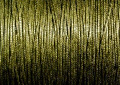 Sznurek bawełniany woskowany zgniła zieleń
