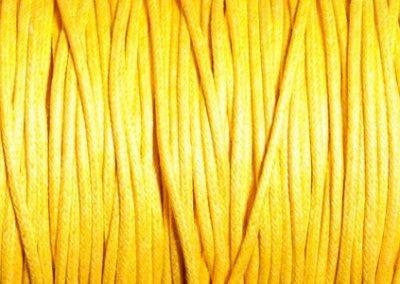 Sznurek bawełniany woskowany zółty