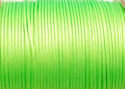 Sznurek lakierowany jaskrawy zielony
