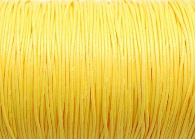 Sznurek lakierowany jasny zółty