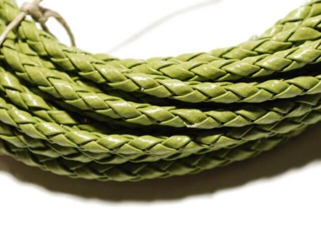 Rzemień syntetyczny. Zielony